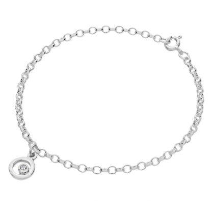 Karen Duncan Jewellery - Bubbles Charm Cubic Zirconia Bracelet