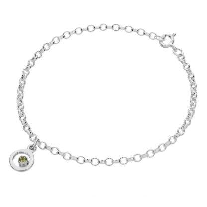Karen Duncan Jewellery - Bubbles Charm Peridot Bracelet